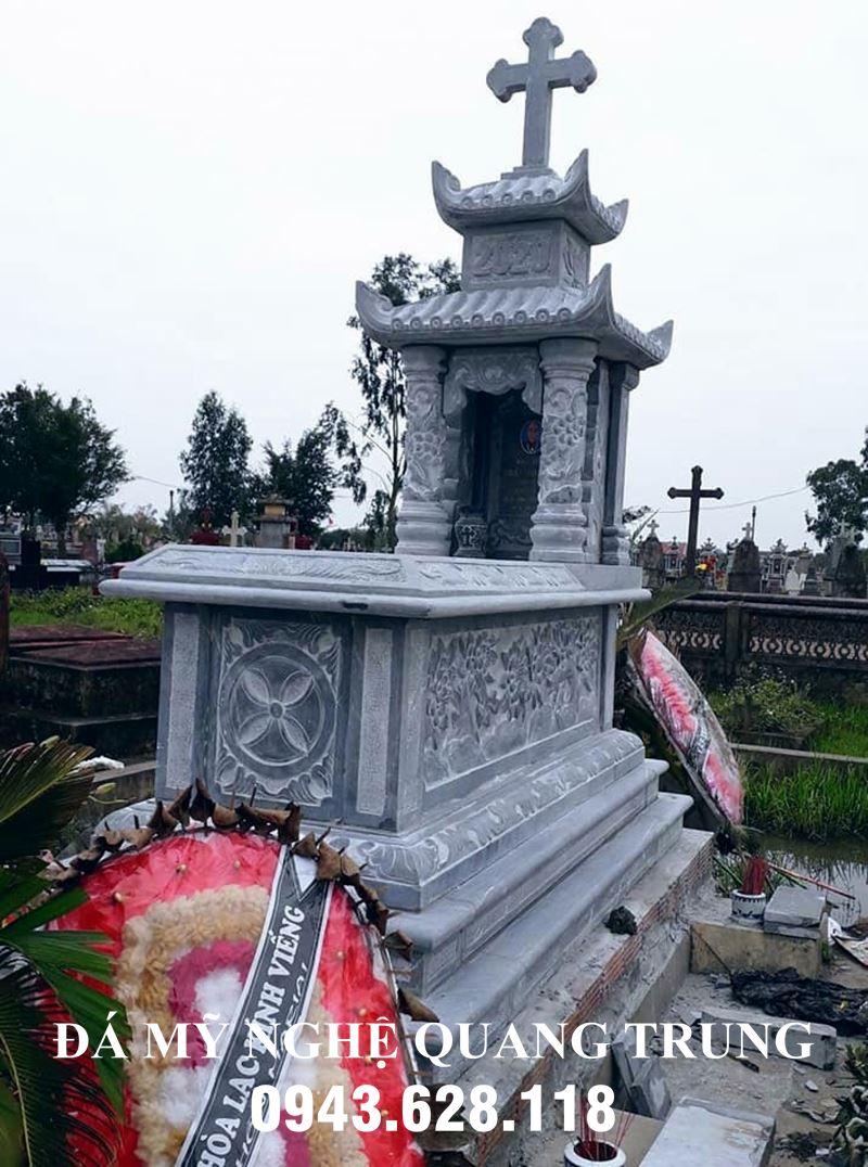 Mẫu Mộ đá công giáo, Mộ công giáo đá đẹp Quang Trung Ninh Bình.