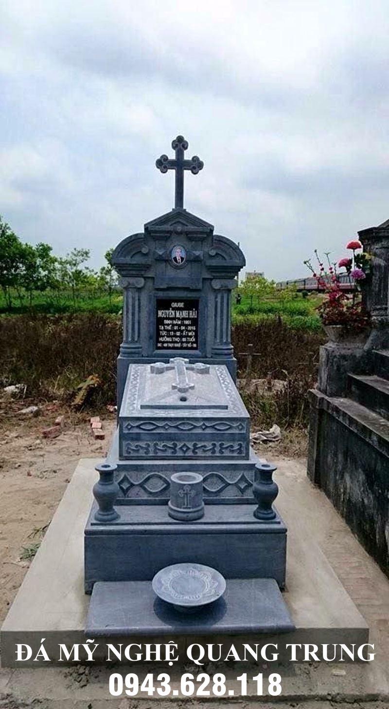 Mẫu Mộ đá Công giáo - Mộ công giáo đá đẹp Quang Trung Ninh Bình.